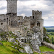 Old castle ruins in Poland in Europe - Foto Stock