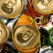 Pressed beer cans. Recycle - Stock Photo