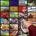 Digital television. Remote control. — Stock Photo