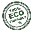 Round stamp with text: 100% Eco Friendly — Stock Photo
