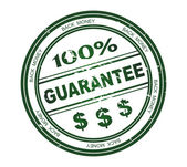 Round stamp with text 100% Guarantee — Stock Photo
