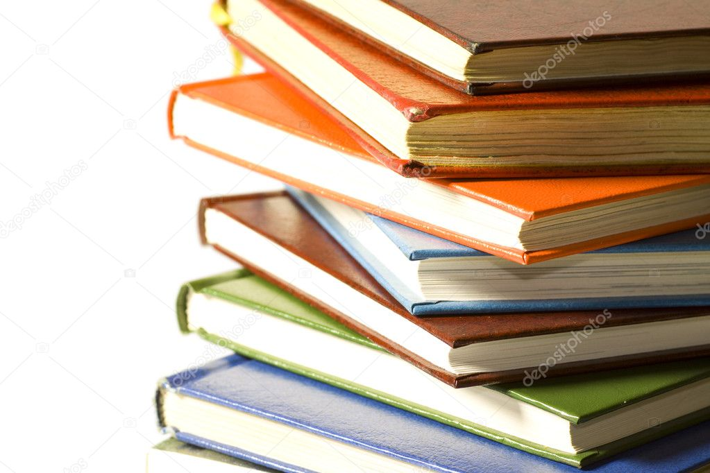 A stack of reading material, books.  Stock Photo #3828966