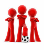 Soccer mini team — Stock Photo