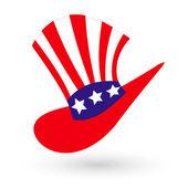 American Hat — Stock Vector