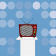 Royalty-Free Stock Vector Image: Vector illustration of retro tv