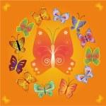 Vector background with butterflies — Stock Vector