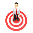 Royalty-Free Stock Photo: Businessman stands in the target