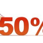 50 percent — Stock Photo #2916266