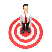 Businessman stands in the target — Stock Photo