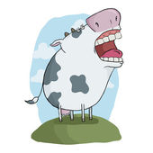Crazy cow — Stock Vector