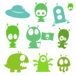 Royalty-Free Stock Vector: Ufo collection