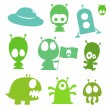 Royalty-Free Stock Imagen vectorial: Ufo collection