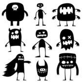 Halloween monsters — Stock Vector
