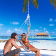 Couple at Maldives — Stock Photo #3011138
