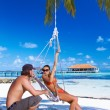 Couple at Maldives - Stock Photo