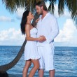 couple nex to palm tree — Stock Photo #3014143