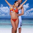 Stock Photo: Couple at Maldives