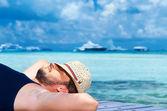 Man at Maldives — Stock Photo