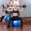 Couple at the gym — Foto Stock