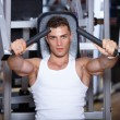 Man at the gym - Stock Photo