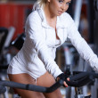 woman at the gym — Stock Photo #3376137