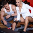 Stock Photo: Couple at the gym