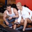 Couple at the gym — Stockfoto
