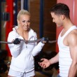Couple at the gym — Stock fotografie #3376181