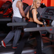 Couple at the gym — Stock fotografie #3376225