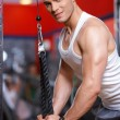 Man at the gym — Stock Photo #3376230