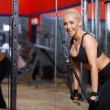 Woman at the gym — Stock Photo #3376234