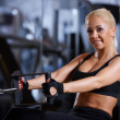 Foto de Stock  : Woman at the gym