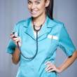 Portrait of beautiful female doctor — Stock Photo