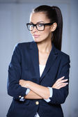 Portrait of beautiful business woman — Foto de Stock