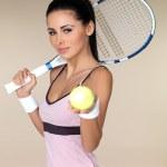 Female tennis player — Stock Photo #3855372