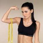 Brunette Fitness girl — Stock Photo