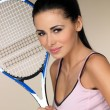 Female tennis player — 图库照片