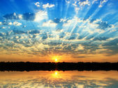 Summer sunrise — Stock Photo