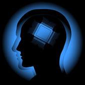 Digital brain — Stock Vector