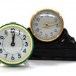 Stock Photo: Retro sepia clocks
