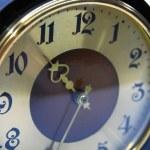 Retro sepia clock — Stock Photo