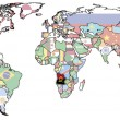Stock Photo: Angolon world map