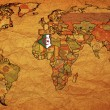 Stock Photo: Algerion old paper world map