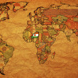 Stock Photo: Niger on very old world map