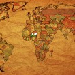 Niger on very old world map - Stock Photo