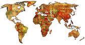 Morocco on world map — Stock Photo