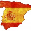 Spain flag on territory — Stock Photo