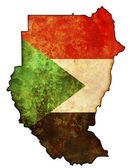 Sudan flag on territory — Stock Photo