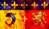 Old flag of france region — Stock Photo