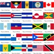 Flag of north american countries — Stock Photo